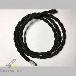 Провод текстильный витой black