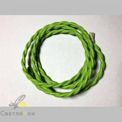 Провод текстильный витой light green