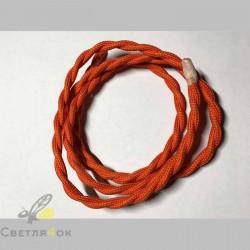 Провод текстильный витой orange