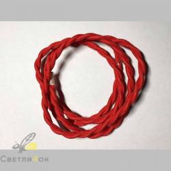 Провод текстильный витой red