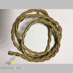Провод текстильный витой right gold