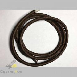 Провод текстильный brown