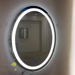 Зеркало с подсветкой овальное 434