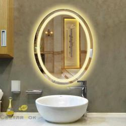 Зеркало с подсветкой овальное 444
