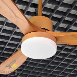Деревянная люстра вентилятор Wood Slice