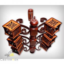 Светильник деревянный 0109