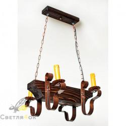 Светильник деревянный 0205