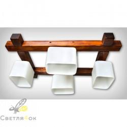 Люстра деревянная 0611
