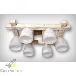Люстра деревянная 0615-1