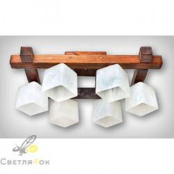 Люстра деревянная 0615