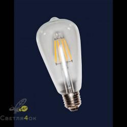 Лампа QG premium(IC) ST64 E27 6W 2700K 600lm Clean