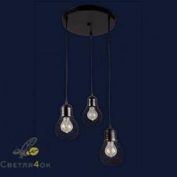 Светильник Лофт 907004F-3 BK (300)