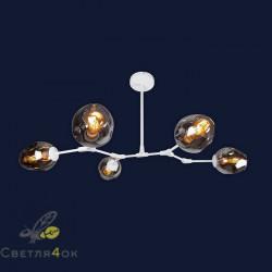 Люстра в стиле Лофт 756LPR0231-5 WH BK