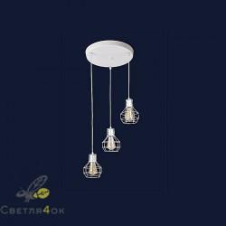Светильник Лофт 756PR1618F-3 WH (300)