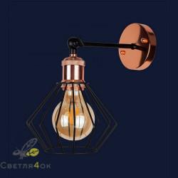 Светильник Лофт 907W020F-1 BK+GD