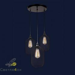 Светильник Лофт 907018F-3 BK (300)
