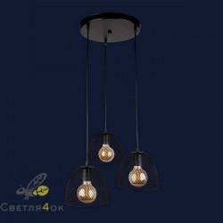 Светильник Лофт 907013F-3 BK (300)