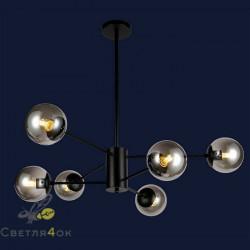 Люстра Лофт Молекула 7526033-6 BK BK