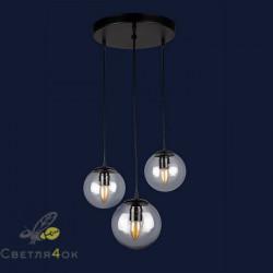 Светильник Лофт 756PR150F-3 BK+CL
