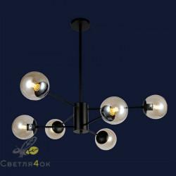 Люстра Лофт Молекула 7526033-6 BK BR