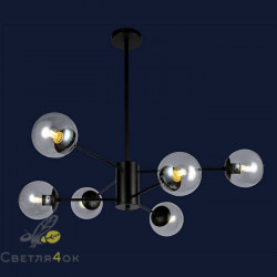 Люстра Лофт Молекула 7526033-6 BK CL