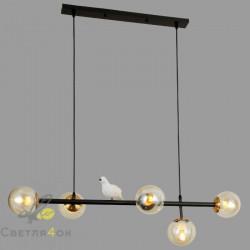 Светильник с птичками 761WKT05-5 BK+BK