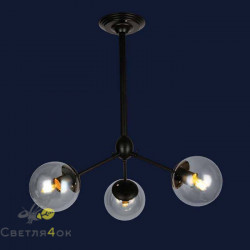 Светильник 756PL385-3 BK+CL