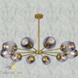 Люстра в стиле лофт 7526039-10 GD+BK