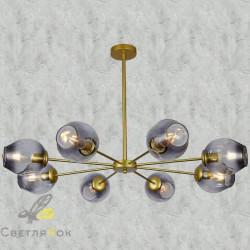 Люстра в стиле лофт 7526039-8 GD+BK
