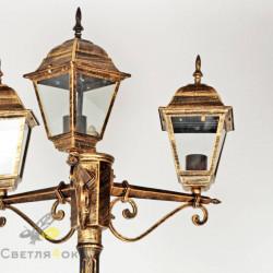 Садово - парковый светильник BS-7019A-3 Bronze