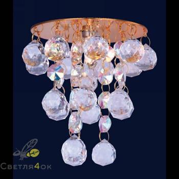 Хрустальный светильник 712A2075 GD/CL+RBG