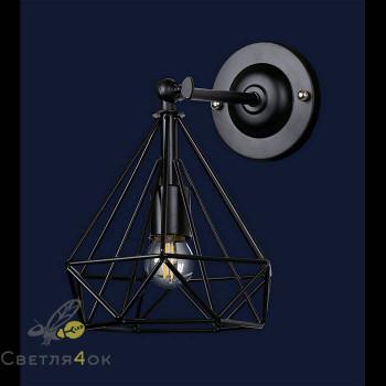 Светильник в стиле Лофт 707W157-1 BK