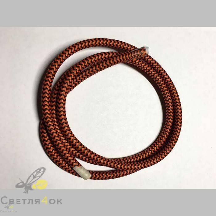 Провод текстильный зигзаг black+orange