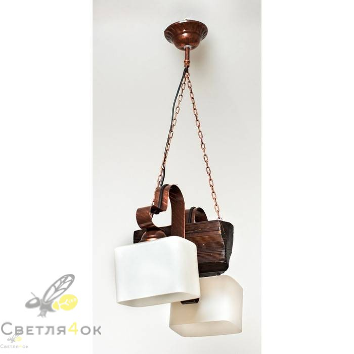Светильник деревянный 0202