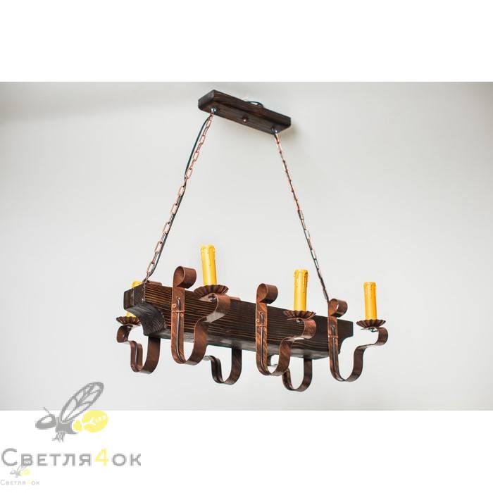 Светильник деревянный 0206