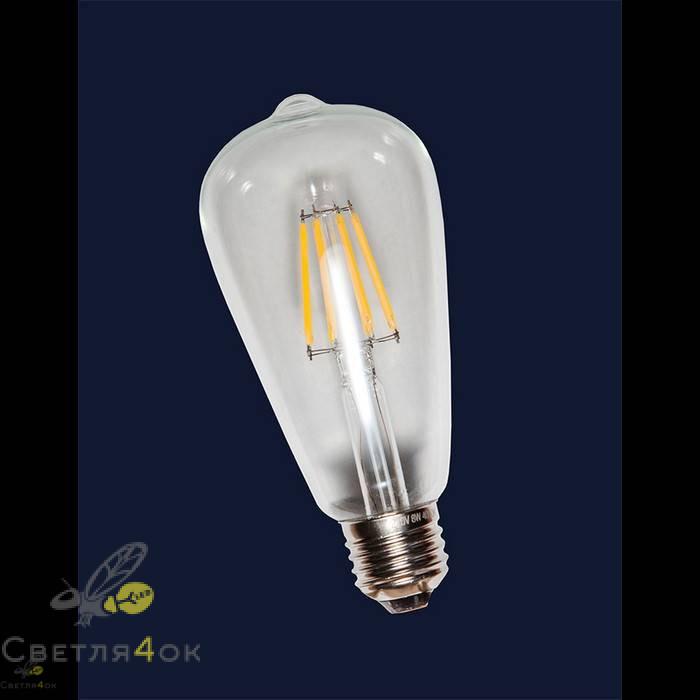 Лампа QG standart(RC) ST64 E27 6W 2700K 550lm Clean