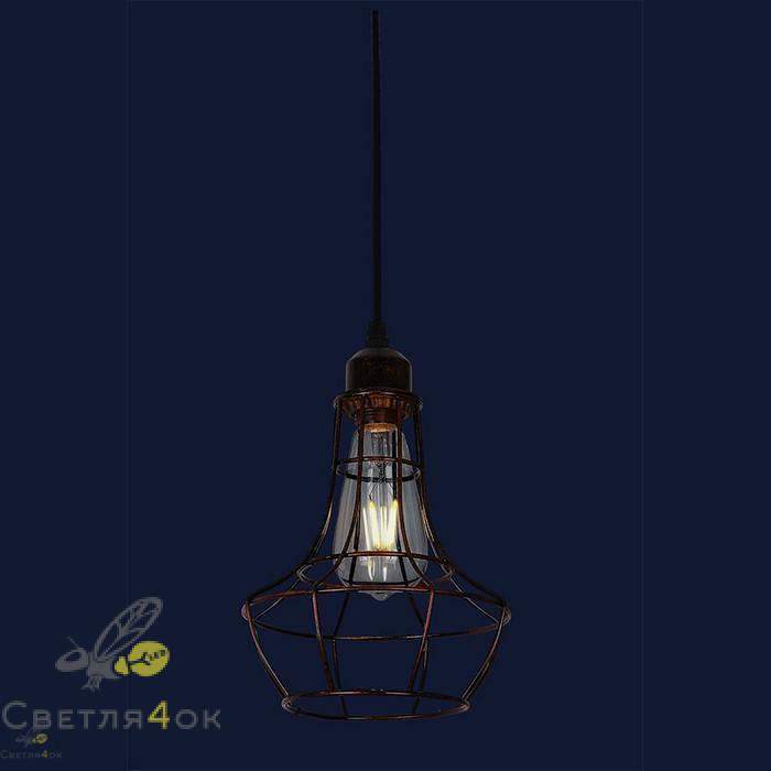 Светильник лофт 746WXA035-1 BK+BR