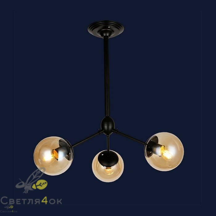 Светильник 756PL385-3 BK