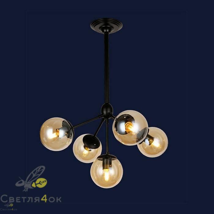 Светильник 756PL385-5 BK