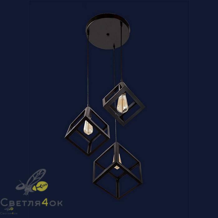 Светильник Лофт 756PR161F-3 BK (300)