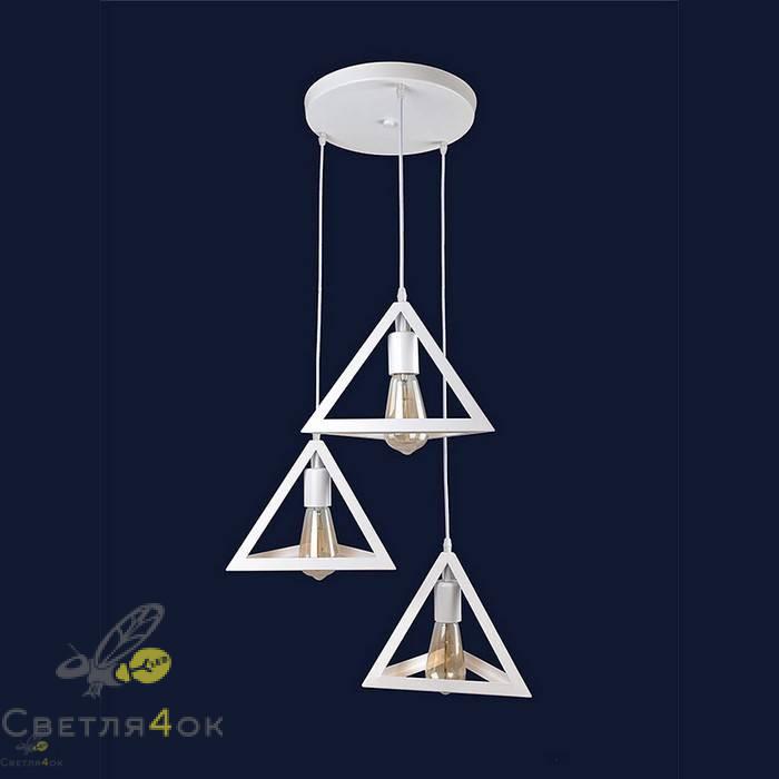 Светильник Лофт 756PR220F-3 WH (300)
