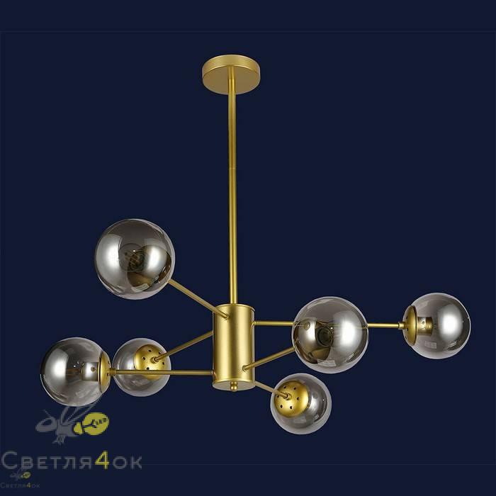 Люстра Лофт Молекула 7526033-6 GD BK