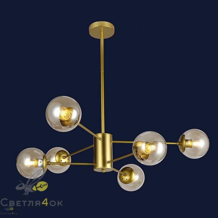Люстра Лофт Молекула 7526033-6 GD BR