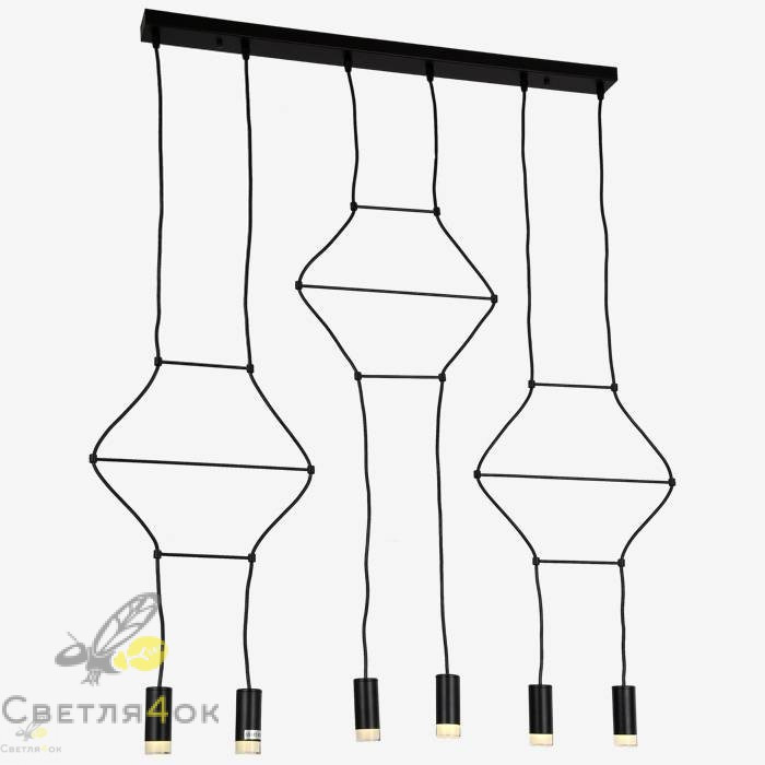 Светильник Лофт 720P16021-6 BK