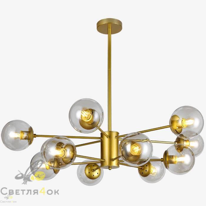Люстра в стиле лофт молекула 7526033-12 GD+CL