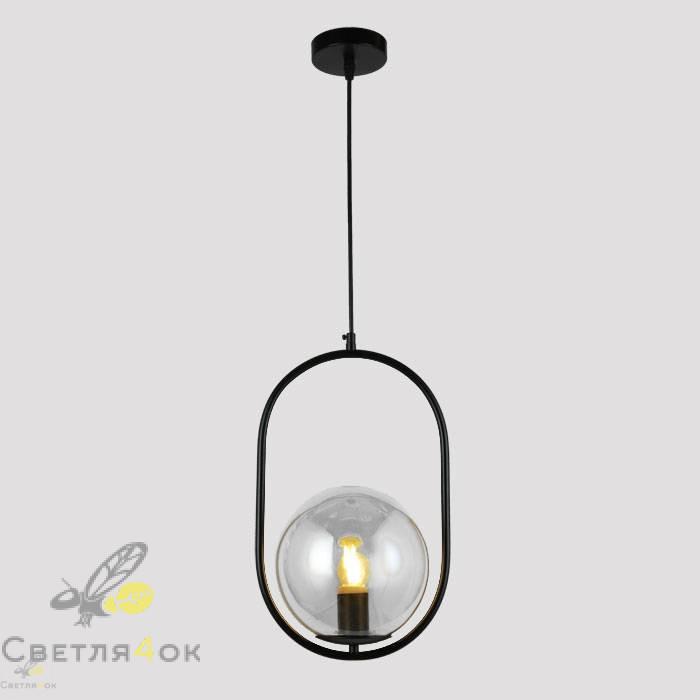 Подвесной светильник 91640-1 BK+CL