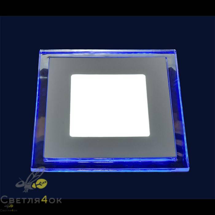 Точечный светильник LED BLUE 10W(квадрат)теплый