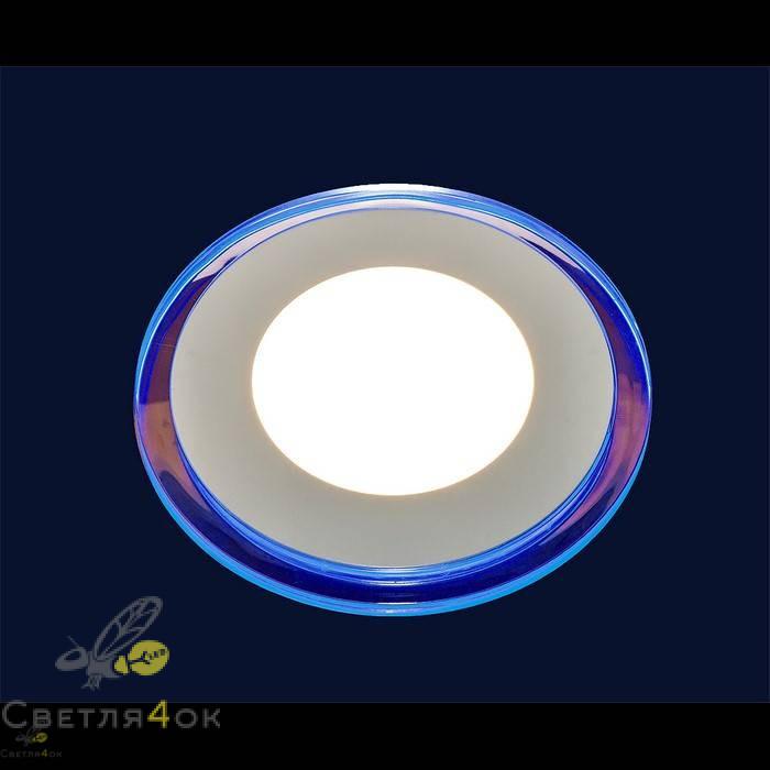 Точечный светильник LED BLUE 10W(круг)теплый
